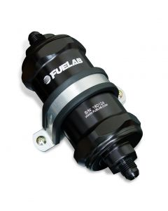 Fuel Lab In-Line Fuel Filter, Standard Length, -6AN Inlet/Outlet, 6 micron fiberglass element (81831-1)
