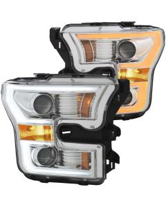 Anzo Projector Plank Style Switchback Headlights Chrome/Amber (111358)