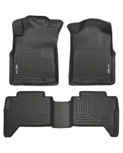 Husky Liners Front & 2nd Seat Floor Liners; Fits 05-15 Tacoma Double Cab (98951)